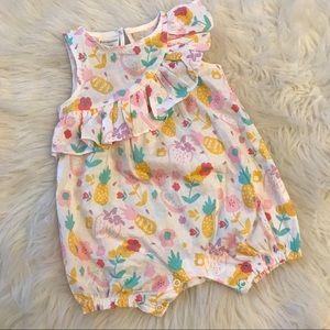 Baby Girls Tropical Fruit-Print Cotton Romper 6-9M
